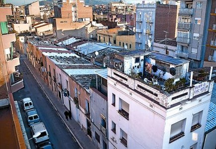 La calle de Jorba, la más afectada por el plan, ahora a punto de salvarse, ayer.