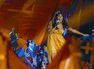 Raquel del Rosario, durante su actuacin del sbado en Eurovisin.