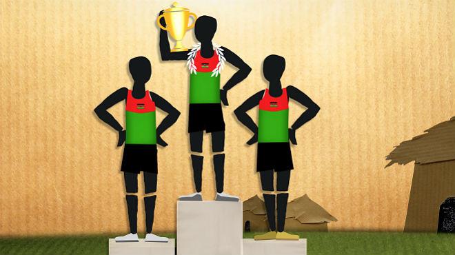 Maratón por la igualdad en Kenia.