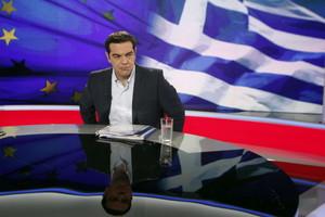 Alexis Tsipras, anoche, en una entrevista en la televisión pública griega ERT.