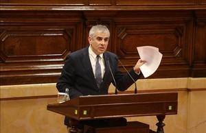 Carlos Carrizosa durante una intervención en el Parlament