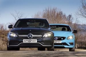 Mercedes-AMG C 63 frente a Volvo S60 R Polestar.