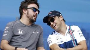 Alonso y Massa, bromeando la pasada semana en Melbourne