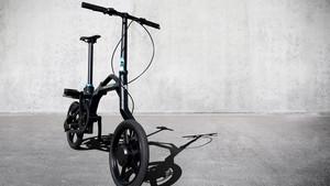 Bicicleta híbrida plegable de Peugeot