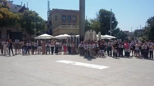 La concentración de esta mañana en Santa Coloma.