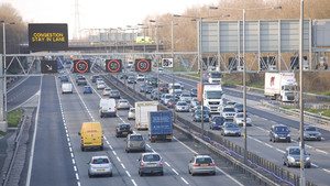 Absorción contaminación carretera inglaterra