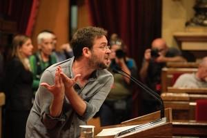 Albano Dante Fachín en el Parlament