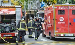 Incendio en piso calle Saragossa