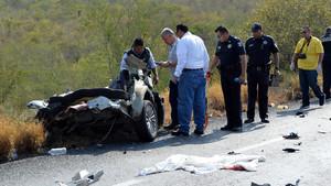 Accidente de carretera en México, pero tambien podría haber sido aquí.