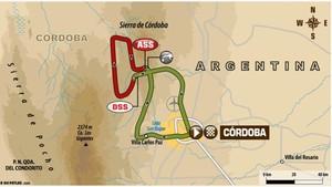 Este es el recorrido de la decimocuarta etapa del Dakar 2018