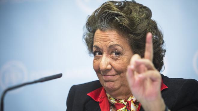 Rita Barberá y todos los concejales populares en Valencia, expedientados.