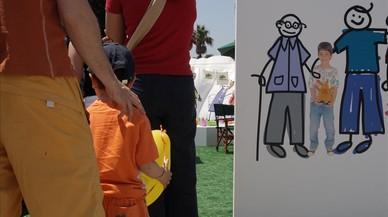Niños de acogida, en una campaña impulsada en el 2008.