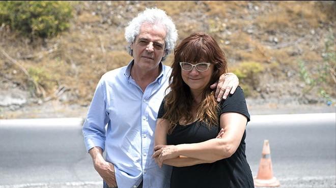 Andrés Santana, director de producción de 'Nadie quiere la noche', junto a la directora de la película, Isabel Coixet.