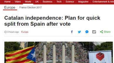 L'anunci de la independència exprés, en la premsa internacional