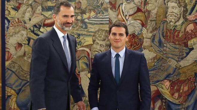 Encuentro de Albert Rivera con el Rey Felipe VI