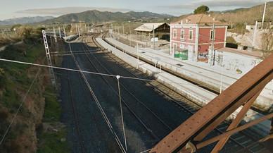 Imagen de la estación de Adif en Les Borges del Camp donde se ha producido el accidente mortal.