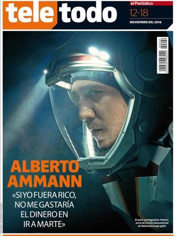 Alberto Ammann posa rumb a Mart