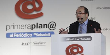Miquel Iceta, al Fòrum Primera Plan@, aquest dimecres.