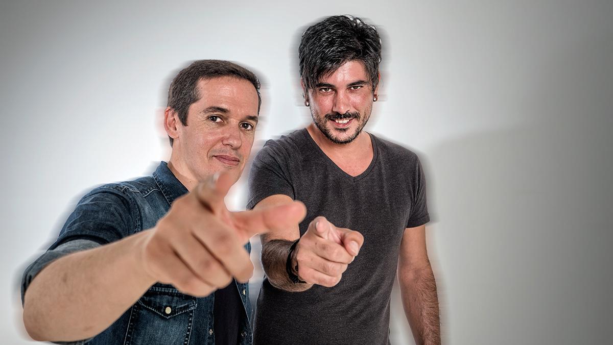 Jorge Ruiz y Luis Gómez, el cantante y el guitarrista de Maldita Nerea, interpretan 'Bailarina'.