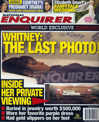 La �ltima fotograf�a de Whitney Houston en el ata�d