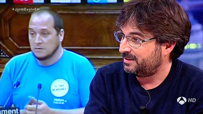 Jordi Évoleparlade la CUP a 'El hormiguero', d'Antena 3 TV.