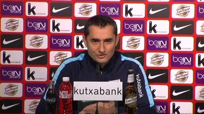 Valverde, valorando el emparejamiento con el FC Barcelona.