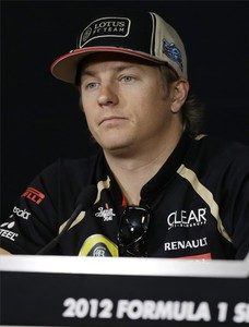 El piloto de Lotus Kimi Raikkonen.