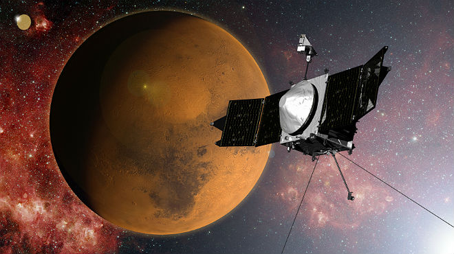 La sonda Maven entra en la �rbita de Marte