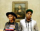 Beyonc� y Jay-Z, frente a 'La Gioconda'.