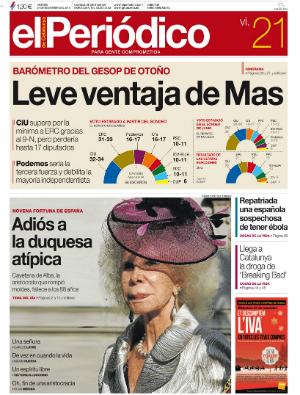 La portada de</br>EL PERI�DICO