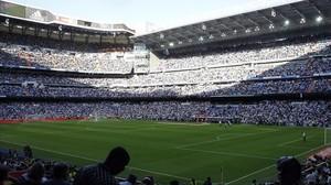 Una vista del estadio Bernabéu, donde el Madrid no quiere que el Barça juegue la fina de la Copa del Rey.