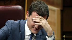 Albert Rivera durante la segunda votación de la investidura de Sánchez.