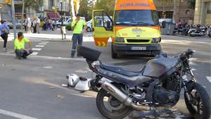 El SEM atiende un accidente de moto