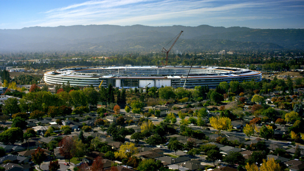 Vista aérea de la nueva sede de Apple, Apple Park.