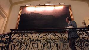 el cuadro del hotel majestic ante el que joan Miro meditaba
