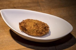 Receta de la croqueta de pollo al curri de Albert Ventura