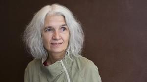 La escritora madrileña Belén Gopegui, en su visita a Barcelona.