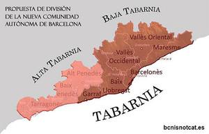 Mapa de Tabarnia.