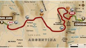 Este es el recorrido de la decimotercera etapa del Dakar 2018