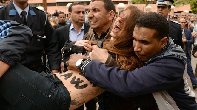 Dues activistes de Femen, arrestades al Marroc quan protestaven pel judici a un homosexual