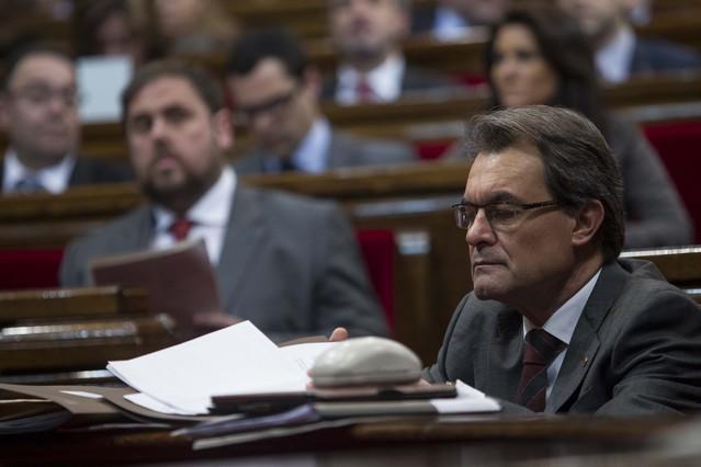 ERC hace pi�a con CiU y el PSC acusa a Mas de tapar la crisis con el soberanismo