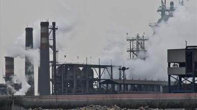 Zona industrial en la ciudad china de Tangshan, una de las m�s contaminadas de la regi�n de Hebei.