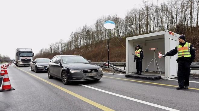 Controles en la frontera de Alemania con Austria.