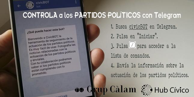 Fiscalización política de la mano de un canal de mensajería