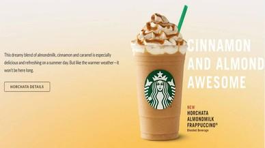 Starbucks lanza el nuevo 'frappuccino' de horchata, pero sin chufa