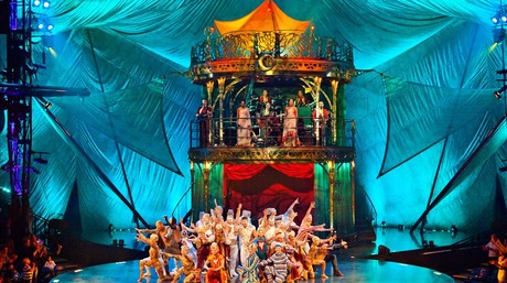 Espect�culo 'Kooza', del Cirque du Soleil, en Port Aventura, en el verano del 2014.