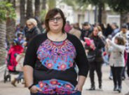 Marina Marroqu�, en Elche, donde vive y preside la Asociaci�n Ilicitana contra la Violencia de G�nero.