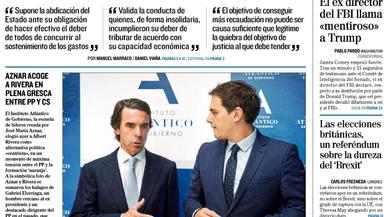 El revés del Constitucional a Montoro ocupa el quiosc