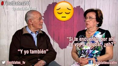 Florencio y Matilde, dos ancianos en 'First dates' (Cuatro).