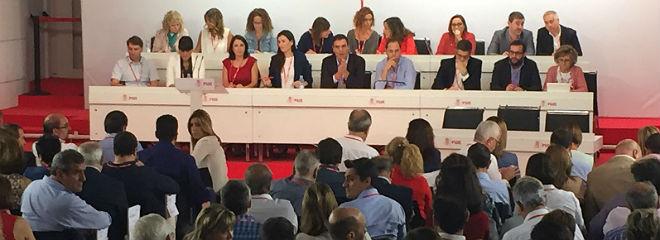 Vista del interior de la reuni�n del comit� federal del PSOE.